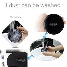 Magical Super Powerful Fixate Gel Pad Strong Adhesive stick Portable 2 Pcs E F M Tech Gifts For Men, Cable Organizer, Silica Gel, Pad, Solid Surface, Modern Materials, Fix You, Decoration, Wall Sticker