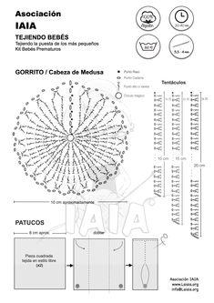 PATRON GORRITO Y PATUCOS BEBES PREMATUROS Crochet Motifs, Crochet Diagram, Crochet Doilies, Crochet Flowers, Crochet Patterns, Mandala Rug, Diana, Crochet Home, Girl Dolls
