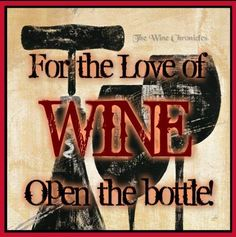 For the love of wine...
