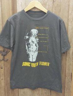Sonic Youth Flower super soft Vintage Band T Shirt super soft cotton Men's Large Chest Meas Types Of Cotton Fabric, Vintage Band Shirts, Arm Pit Stains, Vintage Men, Youth, Mens Tops, T Shirt, Crime, Zero