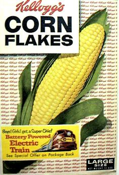 Vintage ad for Kellogg's Corn Flakes
