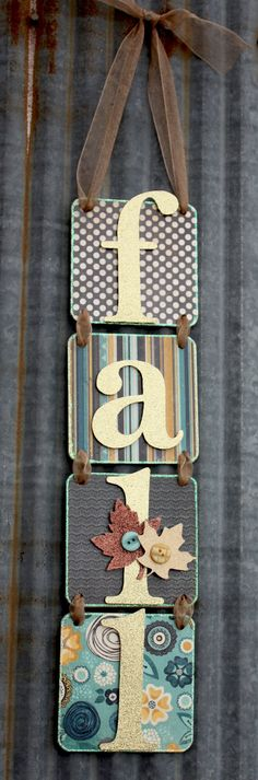Cute!!  Using tiles and scrapbook paper