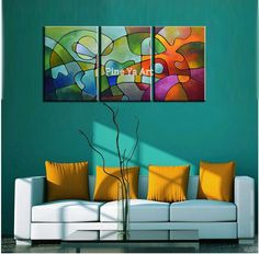 3 piece modern canvas wall art  triptych Muti Abstract picture beauty oil painting canvas for living room bedroom decoration-in Painting & Calligraphy from Home & Garden on Aliexpress.com | Alibaba Group