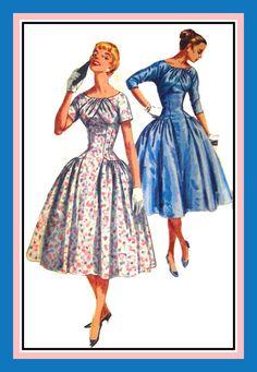 Vintage 1956Stunning Party DressSewing by FarfallaDesignStudio, $55.00