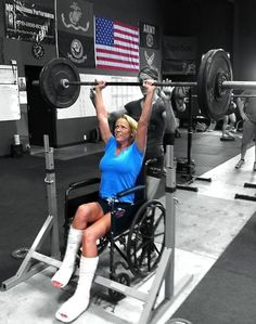 """""""Lisa Nunley has had MS since 1990. Recently she had to have surgery to correct her feet. She has still been coming by modifying and doing alternative WODS.""""    - From the Crossfit Main Page Oct 25 2011    Battling MS and still working out! True motivation and inspiration!"""