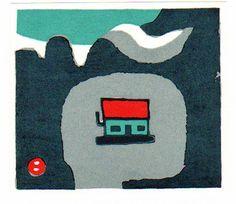 Umetaro Azechi Genuine Japanese Woodblock Print Mountain Home   eBay