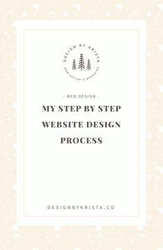 My Website Design Process Steps Web, Ui Design, Graphic Design, Steps Design, Custom Website Design, Web Design Inspiration, Design Tutorials, Design Process, Making Ideas