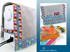 Re-imagine & Renovate: Renaissance Ribbons' Pinafore Style Sewing Machine Cover | Sew4Home