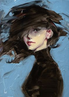 Don't really like the cartooney look of the face, but love the sloppy movement in the hair, blending into the background. Tempest - John Larriva John Larriva, Beautiful Images, Sketches, Illustration, Drawings, Gallery, Portrait, Artwork, Artist