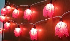 so cool hot pink tulip romantic string light  20 by candoall, $13.59