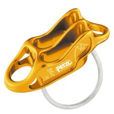 Petzl Reverso 4 Belay Device | This multi-purpose belay/rappel device is ultra-light (59 g, 25 % lighter than the REVERSO 3). Reverso mode for belaying one or two seconds with assisted braking.  at http://www.weighmyrack.com/ #golden