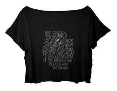 MCR lyrics shirt women crop top My Chemical Romance song