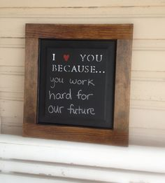 I Love You chalkboard. Good idea to help a relationship grow stronger