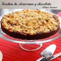 Kuchen de manzana y chocolate