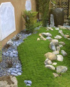 Nice rockwork and moss garden