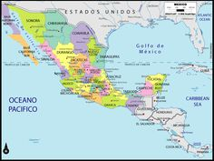Political Map of Mexico