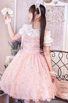 Candies Stars Sweet Lolita Jumper Dress $60.99Cotton Lolita Dresses - My Lolita Dress