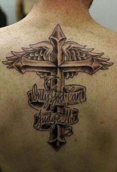 christian tattoos   God Can Judge Me Tattoo On Back   DB18.com