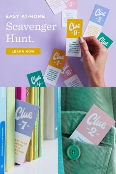 DIY Scavenger Hunt: How to add more fun to gift giving - Think. Camping Scavenger Hunts, Scavenger Hunt Riddles, Projects For Kids, Art Projects, Card Writer, Rhyming Words, Family Events, Creative Crafts, Giving