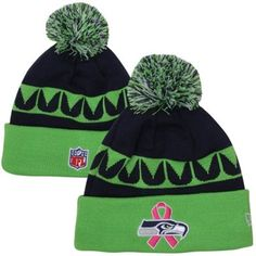 7e88a9e3f81 New Era Seattle Seahawks 2013 Breast Cancer Awareness Cuffed Knit Hat -  Neon Green  bca