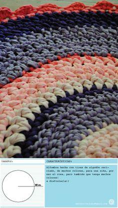 alfombra hecha con amterial reciclado