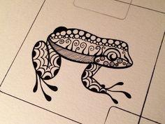 Image result for zentangle frog