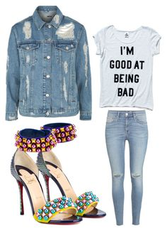 """""""Untitled #2197"""" by bellagioia ❤ liked on Polyvore featuring Christian Louboutin, H&M, Victoria's Secret and Topshop"""