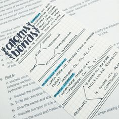 studywithjane: Just some chemistry flashcards :3 - The Organised Student