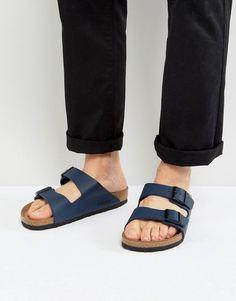 6a1e40b61b6cd Birkenstock Arizona Sandals in Blue - Navy