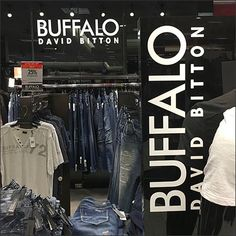 Department Branding For Buffalo David Bitton – Fixtures Close Up Visual Merchandising, Buffalo, Hooks, Entrance, David, Branding, Store, Entryway, Brand Management