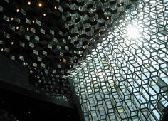 harpa concert and conference hall. facade by olafur eliasson.