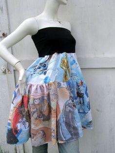 one of a kind patchwork Vintage Star Wars Skirt/ babydoll Dress