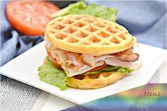 Low Carb Chaffle Idea – Homemade - Quick & Easy Ketogenic Diet Recipe – Completely Keto Friendly - Sandwich BLT Chaffle - 1 Keto Foods - 1 Egg ⅓ C. Almond flour Salt and - Keto Waffle, Waffle Recipes, Waffle Iron, Soup Recipes, Almond Flour Waffles, Almond Flour Recipes, Low Carb Bread, Keto Bread, Keto Foods