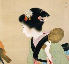 Through the Sapphire Sky: The Uemura Shōen Exhibition -exquisite beauty expressed- Japanese Modern, Japanese Prints, Japanese Beauty, Asian Image, Beauty Express, Japan Painting, Art Asiatique, Japan Art, Woodblock Print