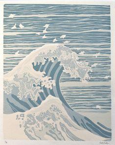 linoleum print by my friend Kate (Kotan) Barber