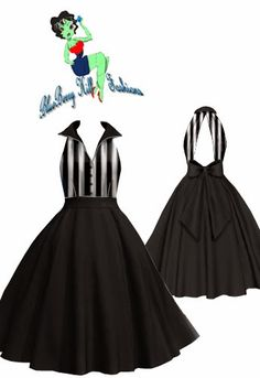 Rockabilly Backless Dress | New Design | Blueberryhillfashions.com