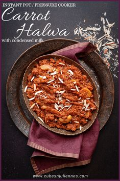 Carrot Halwa or Gajar Ka Halwa with milkmaid or sweetened condensed milk. Here is a simple, easy and quick gajar ka halwa recipe without khoya using Instant pot and pressure cooker method. Let's see how to make carrot halwa without khoya step by step. Best Pressure Cooker, Instant Pot Pressure Cooker, Pressure Cooker Recipes, Slow Cooker, Indian Desserts, Indian Sweets, Indian Food Recipes, Diwali Recipes, Delicious Desserts