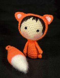 Orange Fox Doll with removable tail   PDF Crochet от deniza17