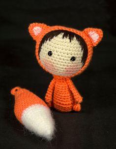 Orange Fox Doll with removable tail PDF Crochet от deniza17
