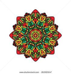 Fashion mandala, doily round, design elements, ornamental pattern, circle background,abstract lace decoration