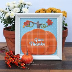 A Simple Fall Paper Crafted Home Décor Project.