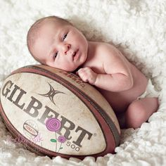 rugby and a baby! Can it get any more precious?!?