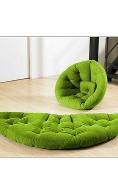 Schlafsessel mit Futon-Matratze Nido, grün