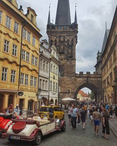The Lesser Town Bridge Tower in Prague  #prague #travel #afternoon #lessertown #bridge #tower #gate #oldarchitecture #architecture #street #streetphotography #galaxys6