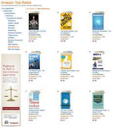 """Having 2 books in the Amazon """"Top Rated"""" section in the Web-Marketing Category is pretty crazy. I'm thinking that might be fairly rare?  Pinterest Power & Craft Business Power..."""