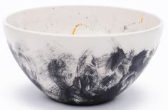 Hand Painted Earthenware Bowl by Gail Garcia