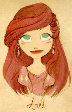 Ariel, Disney, rojo, princesas