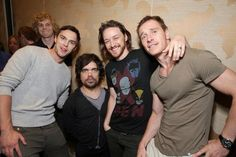 So much sexy – Michael Fassbender, James McAvoy, Peter Dinklage, Nicholas Hoult, & Evan Peters