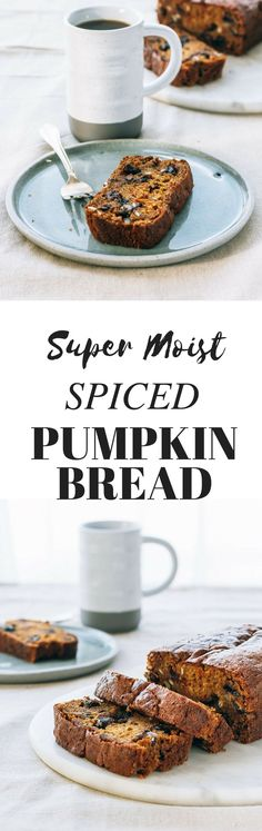 super moist spiced pumpkin bread recipe. Easy fall bake good recipe.