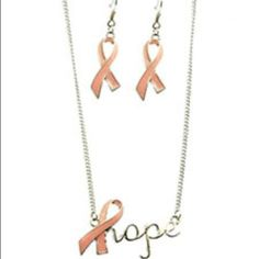 Pink Ribbon Set Bnwt Just Arrived